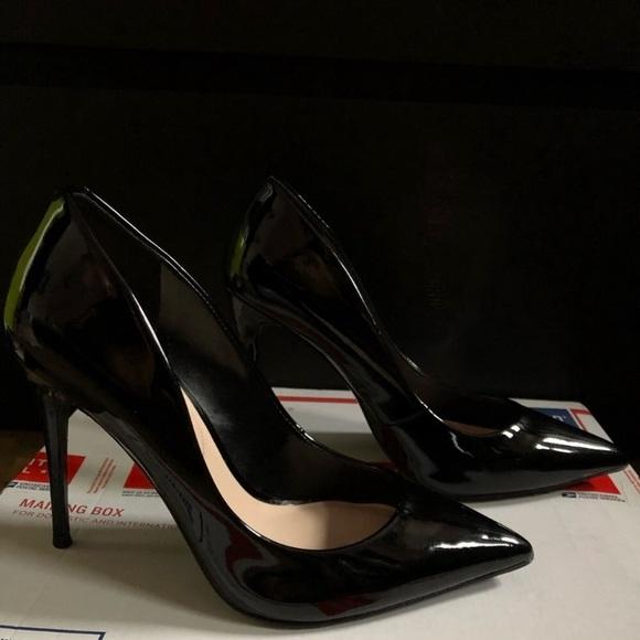 Aldo Stessy Black Patent Leather Heels